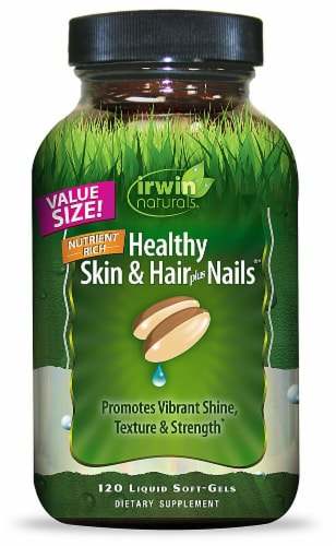 Irwin Naturals  Healthy Skin & Hair Plus Nails® Perspective: front