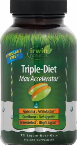 Irwin Naturals Triple-Diet Max Accelerator Liquid Softgels Perspective: front