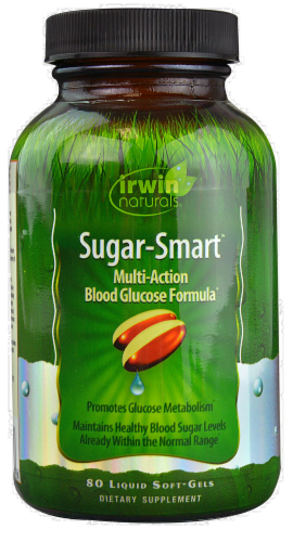 Irwin Naturals Sugar-Smart Multi-Action Blood Glucose Formula Perspective: front