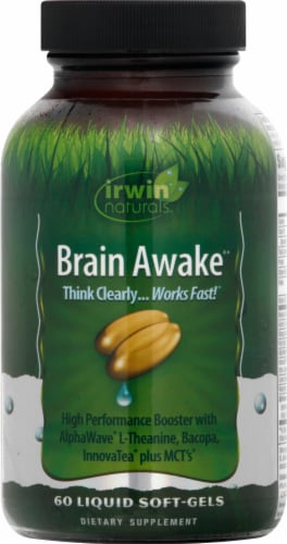 Irwin Naturals Brain Awake Liquid Soft Gels Perspective: front