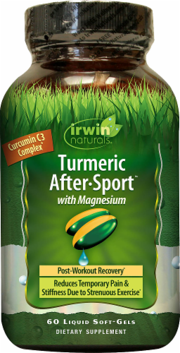 Irwin Naturals Turmeric After Sport Recovery Supplement Perspective: front