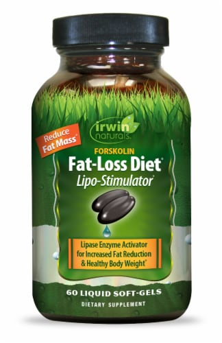 Irwin Naturals Forskolin Fat Loss Diet Soft-Gels Perspective: front