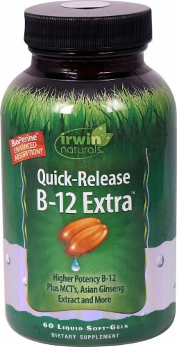 Irwin Naturals  Quick-Release B-12 Extra™ Perspective: front