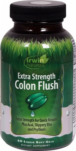 Irwin Naturals Extra Strength Colon Flush Softgels Perspective: front