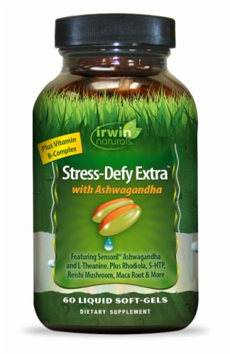 Irwin Naturals Stress-Defy Extra with Ashwagandha Perspective: front