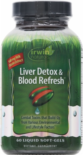 Irwin Naturals Liver Detox & Blood Refresh Liquid Softgels Perspective: front