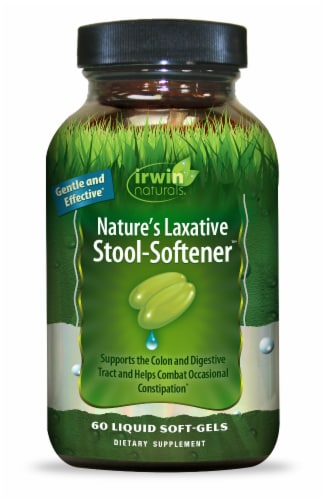 Irwin Naturals Nature's Laxative Stool-Softener Liquid Soft-Gels Perspective: front