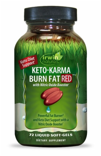Irwin Naturals Keto-Karma Burn Fat Red Liquid Soft-Gels Perspective: front