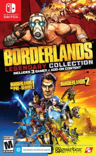 Borderlands Legendary Collection (Nintendo Switch) Perspective: front