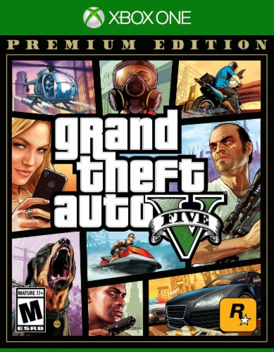 Grand Theft Auto V: Premium Online Edition (XBox One) Perspective: front
