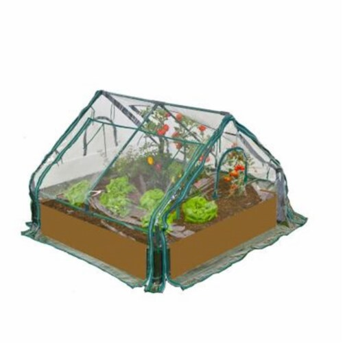 Zenport SH3222A-10PK Three Tier Greenhouse Plant Growing Shelving Station, Box of 10 Perspective: front