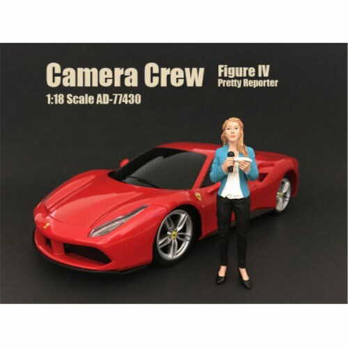 American Diorama 77427-77428-77429-77430 Camera Crew Figure Set for 118 Scale Models Car, 4 P Perspective: front