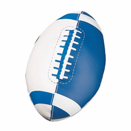 Champion Sports FF7 Soft Sport Mini Football, Royal Blue & White - Size 3 Perspective: front