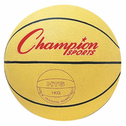 Champion Sports HT6 28.5 in. Weighted Basketball Trainer, Yellow Perspective: front