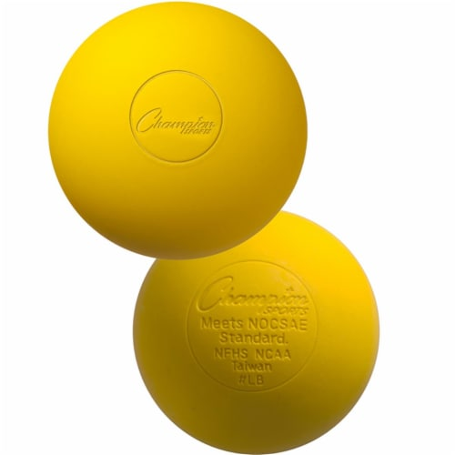 Champion Sports LBYNOCSAE 2.5 in. Official Lacrosse Ball, Yellow Perspective: front