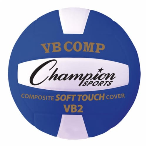 Champion Sports VB2BL 8.25 in. VB Pro Comp Series Volleyball, Blue & White Perspective: front