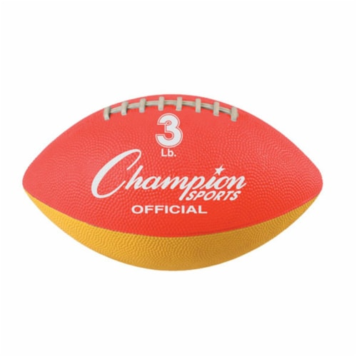 Champion Sports WF31 3 lbs Official Size Football Trainer, Red & Yellow Perspective: front