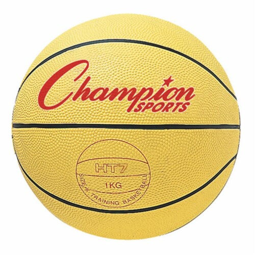 Champion Sports HT74 29.5 in. Weighted Basketball Trainer, Yellow - 4.5 lbs Perspective: front