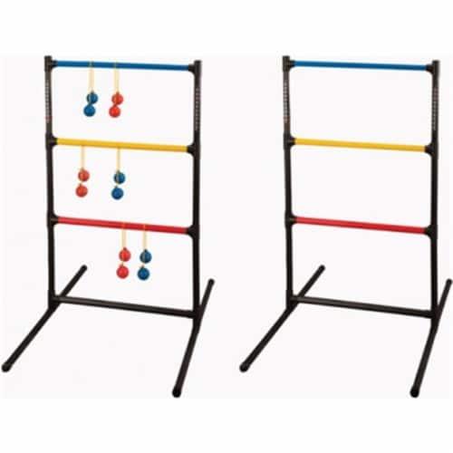 Champion Sports LGSTSET Ladder Ball Golf Game Set, Red & Royal Blue & Black Perspective: front