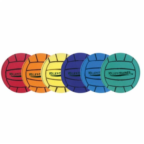 Champion Sports FVBSET Ultra Foam Volleyball Set, Multicolor - Set of 6 Perspective: front
