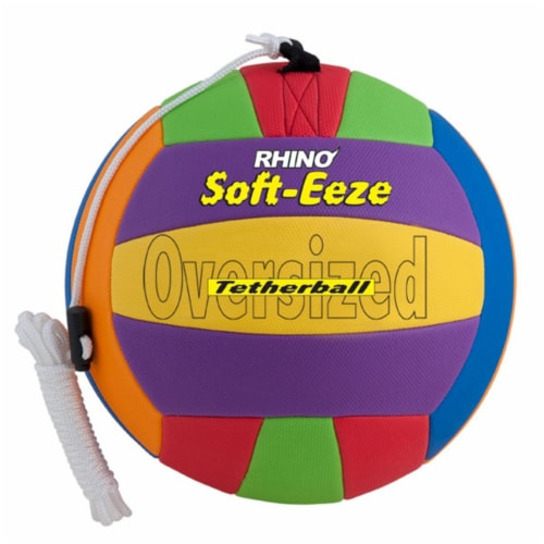 Champion Sports RSTB10 10 in. Rhino Soft Eeze Volleyball, Multicolor Perspective: front