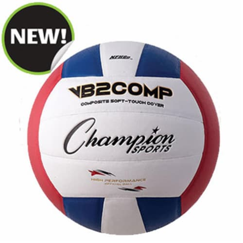 Champion Sports VB2RWB 8.25 in. VB Pro Comp Series Volleyball - Red, Blue & White Perspective: front