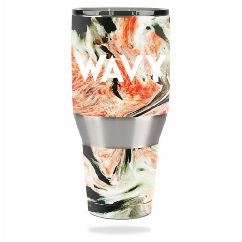 MightySkins OZTUM40-Wavy Skin for Ozark Trail 40 oz Tumbler - Wavy Perspective: front