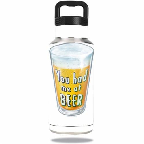 MightySkins OZBOT36-Beer Lover Skin for Ozark Trail 36 oz Water Bottle - Beer Lover Perspective: front