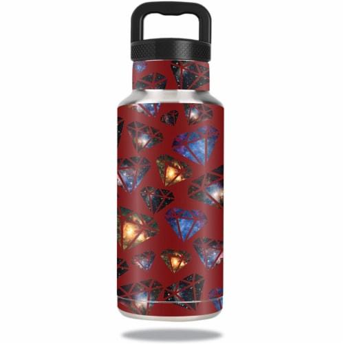 MightySkins OZBOT36-Diamond Galaxy Skin for Ozark Trail 36 oz Water Bottle - Diamond Galaxy Perspective: front