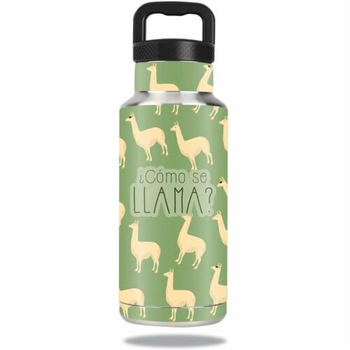 MightySkins OZBOT36-Llama Skin for Ozark Trail 36 oz Water Bottle - Llama Perspective: front