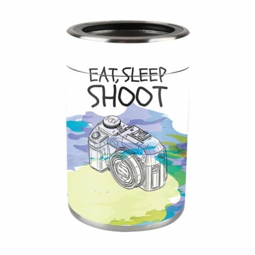 MightySkins OZCAN-Eat Sleep Shoot Skin for Ozark Trail Can - Eat Sleep Shoot Perspective: front