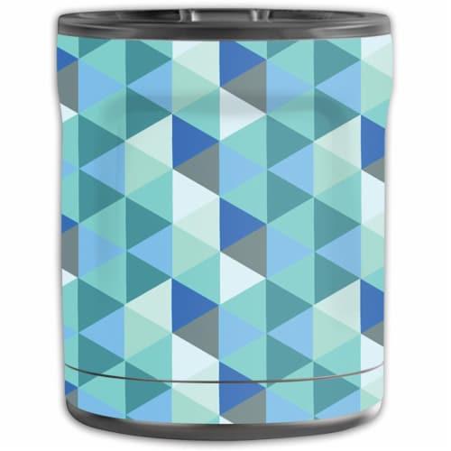 MightySkins OTEL10-Blue Kaleidoscope Skin for Otterbox Elevation Tumbler 10 oz - Blue Kaleido Perspective: front