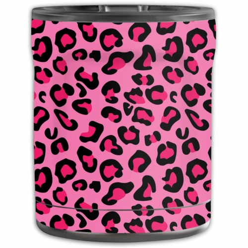 MightySkins OTEL10-Pink Leopard Skin for Otterbox Elevation Tumbler 10 oz - Pink Leopard Perspective: front