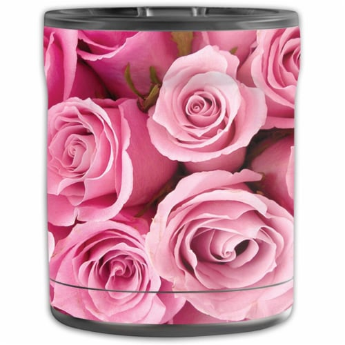 MightySkins OTEL10-Pink Roses Skin for Otterbox Elevation Tumbler 10 oz - Pink Roses Perspective: front