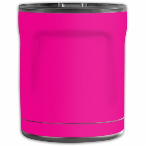 MightySkins OTEL10-Solid Hot Pink Skin for Otterbox Elevation Tumbler 10 oz - Solid Hot Pink Perspective: front