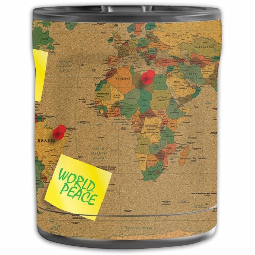 MightySkins OTEL10-World Peace Skin for Otterbox Elevation Tumbler 10 oz - World Peace Perspective: front