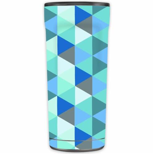 MightySkins OTEL20-Blue Kaleidoscope Skin for Otterbox Elevation Tumbler 20 oz - Blue Kaleido Perspective: front