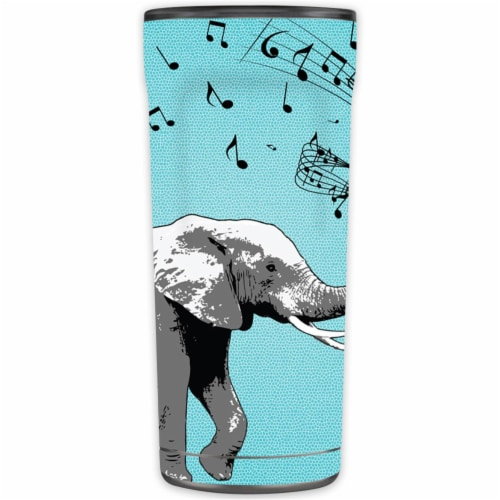 MightySkins OTEL20-Musical Elephant Skin for Otterbox Elevation Tumbler 20 oz - Musical Eleph Perspective: front
