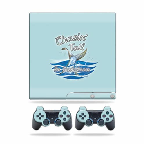 MightySkins PS3SLIM-Chasin Tail Skin for Sony Playstation 3 PS3 Slim Plus 2 Controllers - Cha Perspective: front