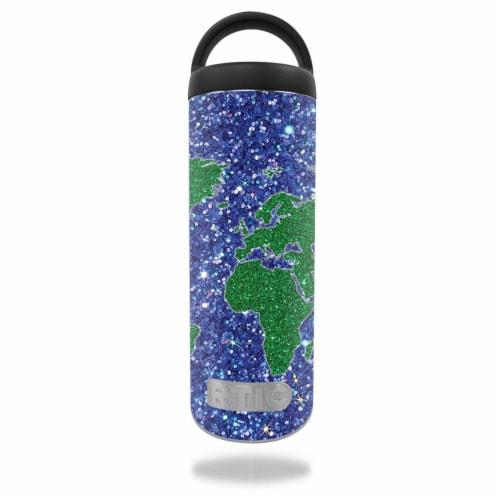 MightySkins RTBOT18-Bling World Skin for RTIC 18 oz Bottle 2016 - Bling World Perspective: front