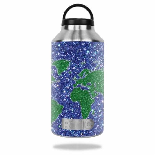 MightySkins RTBOT64-Bling World Skin for Rtic 64 oz Bottle 2016 - Bling World Perspective: front