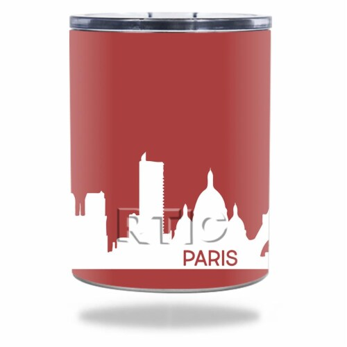MightySkins RTLOW10-Paris Skin for RTIC 10 oz Lowball 2016 - Paris Perspective: front