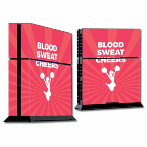 MightySkins SOPS4-Blood Sweat Cheers Skin for Sony Playstation PS4 Console - Blood Sweat Chee Perspective: front