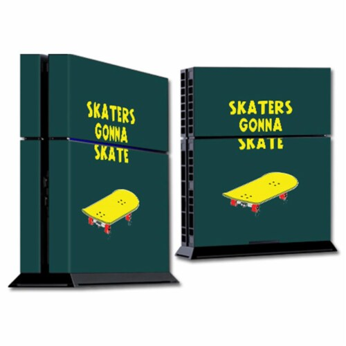 MightySkins SOPS4-Skaters Gonna Skate Skin for Sony Playstation PS4 Console - Skaters Gonna S Perspective: front