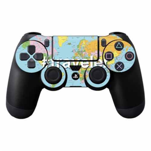 MightySkins SOPS4CO-Traveler Skin Decal Wrap for Sony Playstation Dualshock PS4 Controller - Perspective: front