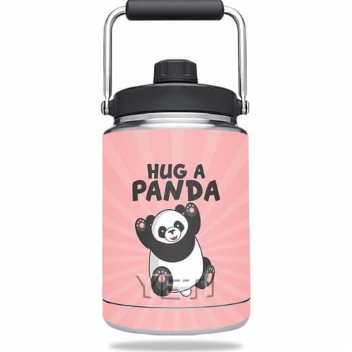 MightySkins YERAMJUG-Hug A Panda Skin for Yeti Rambler 0.5 gal Jug - Hug A Panda Perspective: front
