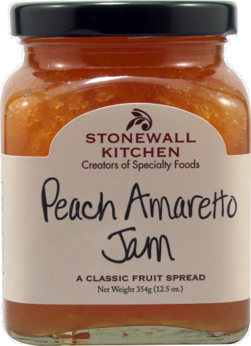 Stonewall Kitchen Peach Amaretto Jam Perspective: front