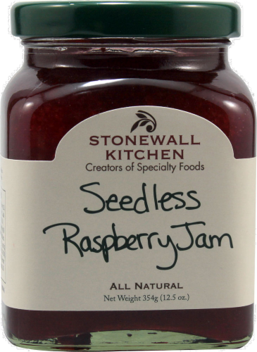 Stonewall Kitchen Seedless Raspberry Jam Perspective: front