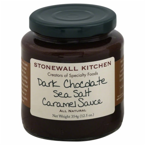 Stonewall Kitchen Dark Chocolate Sea Salt Caramel Sauce Perspective: front