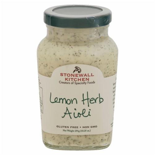 Stonewall Kitchen Lemon Herb Aioli Perspective: front